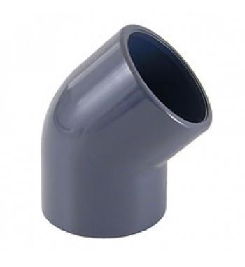GOMITO 45° INCOLLAGGIO PVC D. 20
