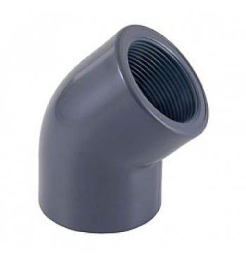 """GOMITO 45° INC/FIL. PVC D. 50 X 1 1/2"""""""