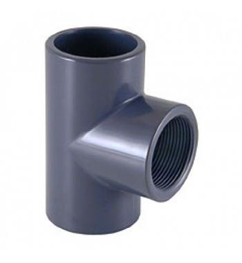 "T 90° INC/FIL. PVC D. 32 X 1"""