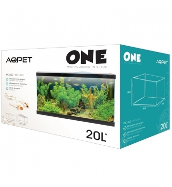 AQPET ACQUARIO ONE MINI IN VETRO 20 LT 36x22x26h