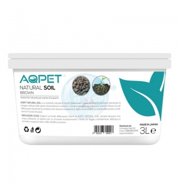 AQPET NATURAL SOIL FONDO BROWN 3 LT