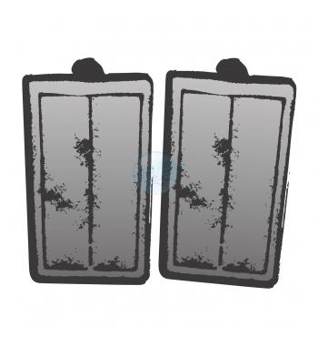 AQPET pad carbone ricambio filtro ANGEL 380